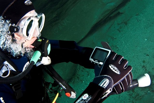 Diver with computer